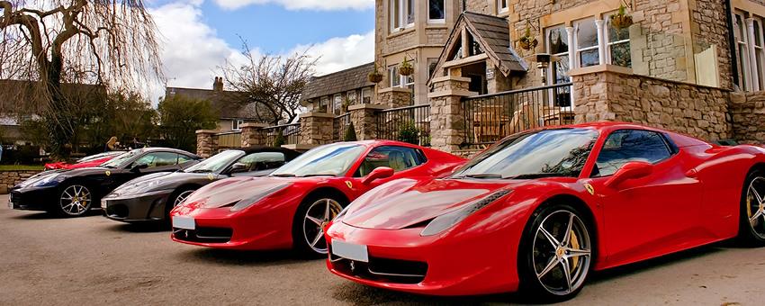 Ferraris outside Romneys Kendal